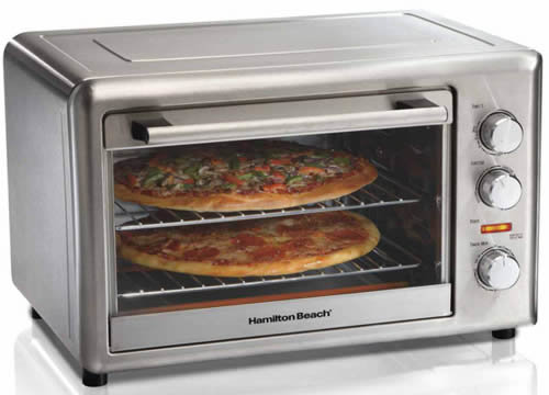 a better way to reheat pizza - convection toaster oven - hamilton beach