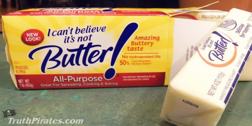 Margarine is unhealthy and is not butter - avoid it!